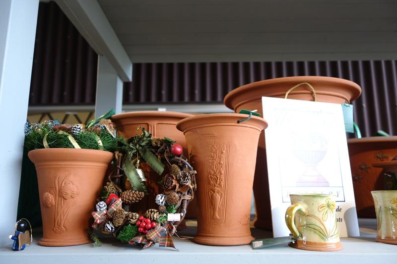 クリスマスにローズの寄せ植え