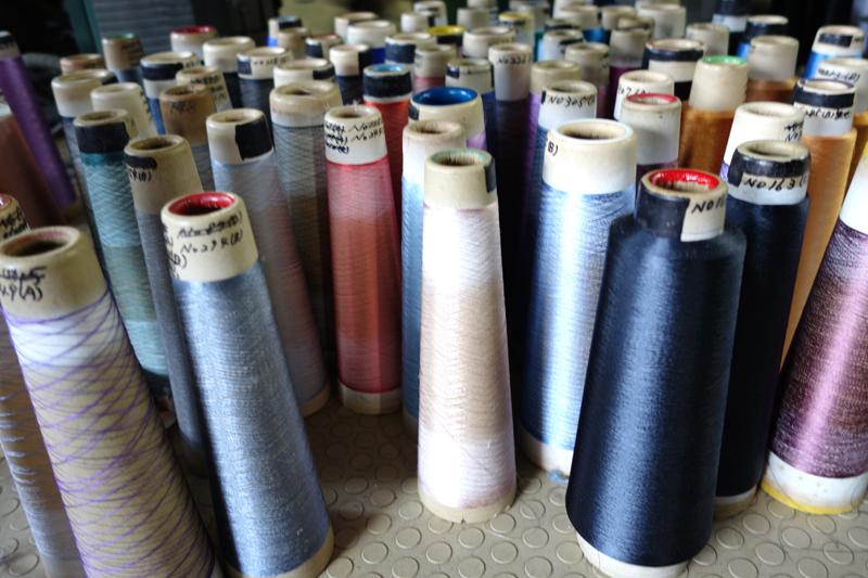 山梨県の織物工場視察